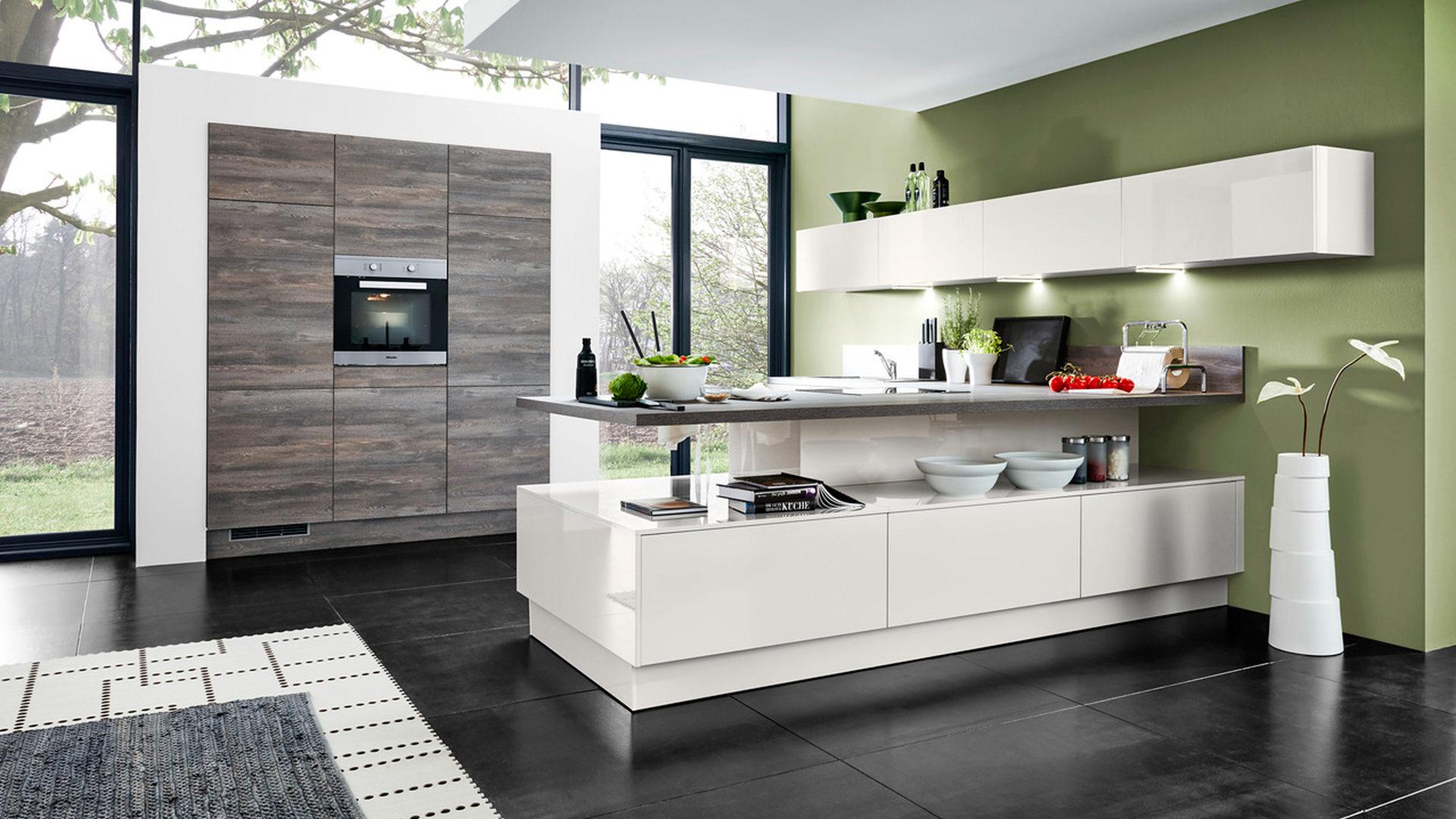Wohnland Breitwieser | Räume | Küche | Culineo Einbauküche mit ... | {Arbeitsplatte küche hellgrau 96}