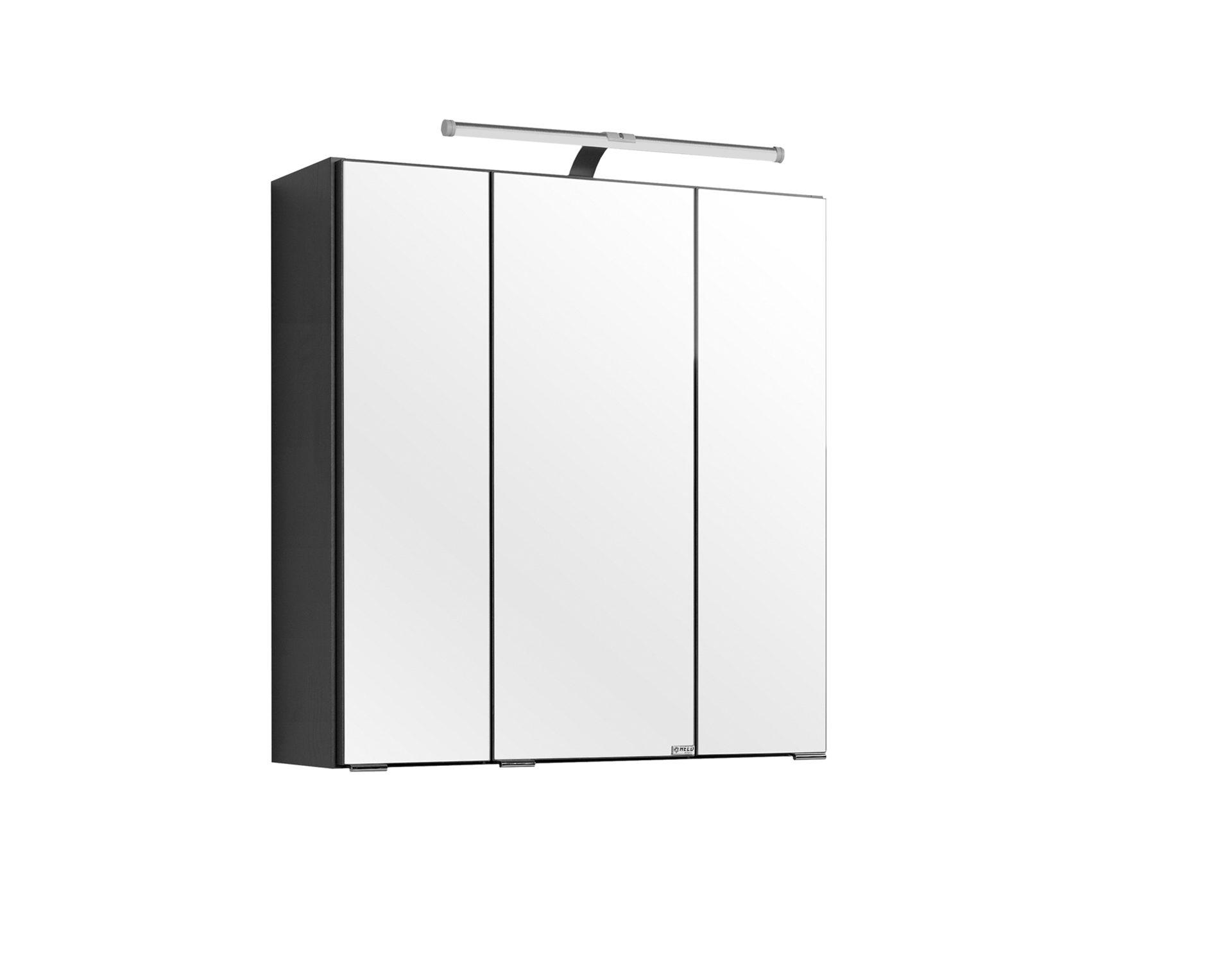 60 x 66 x 20 cm Wei/ß Held M/öbel Portofino Spiegelschrank