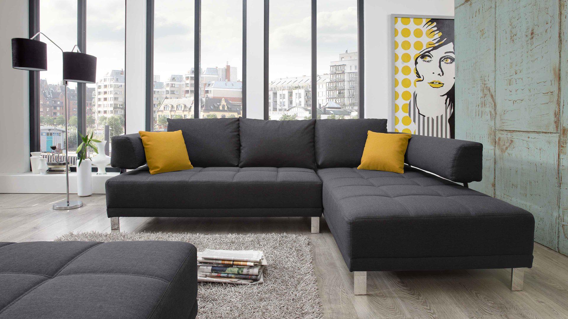 Sofa modern günstig  Wohnland Breitwieser | Sofas | Lounge-Ecksofa mit hochwertiger ...