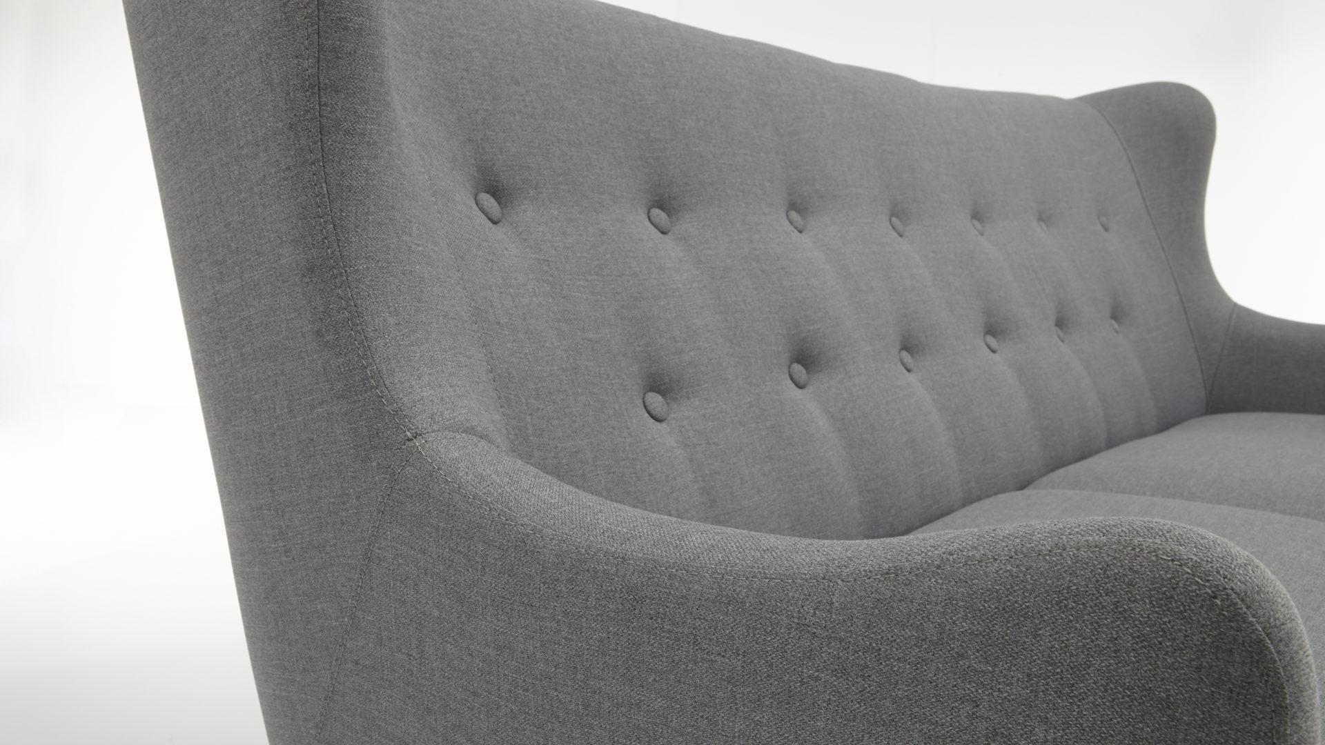 Wohnland Breitwieser , 3-Sitzer Sofa im Retro-Stil, ein bequemes ...