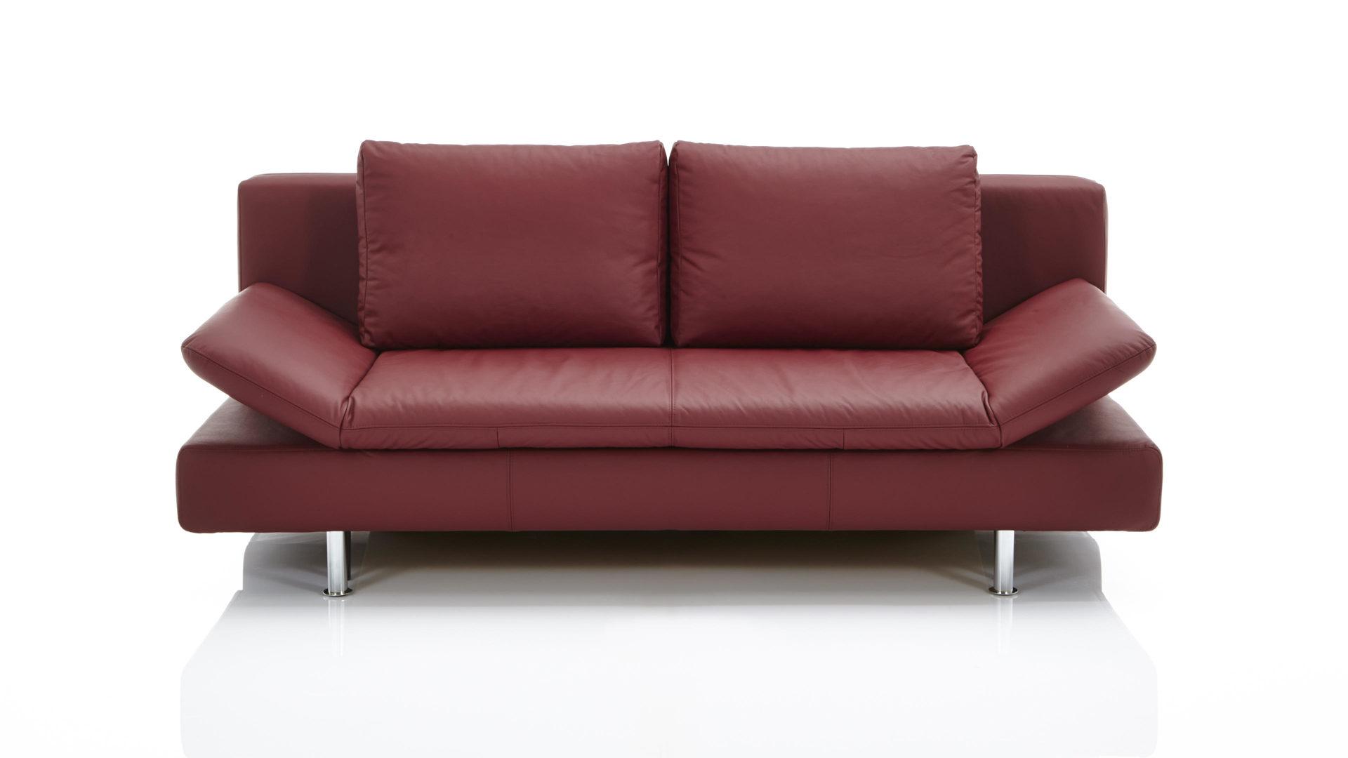 Schlafsofa Aus Leder Wohnzimmer - Design