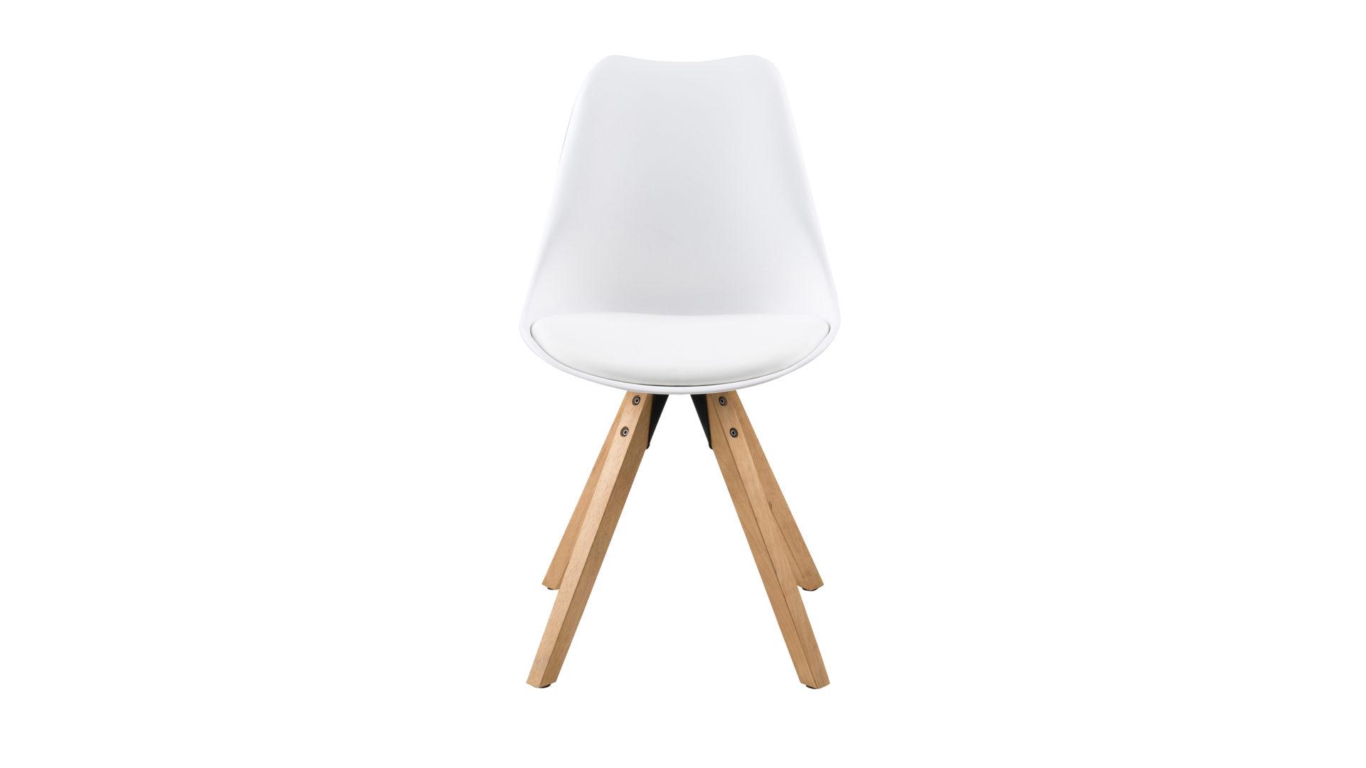 Stühle weiß kunstleder  Wohnland Breitwieser | Startseite | Stuhl im Retro-Look | in Weiß ...