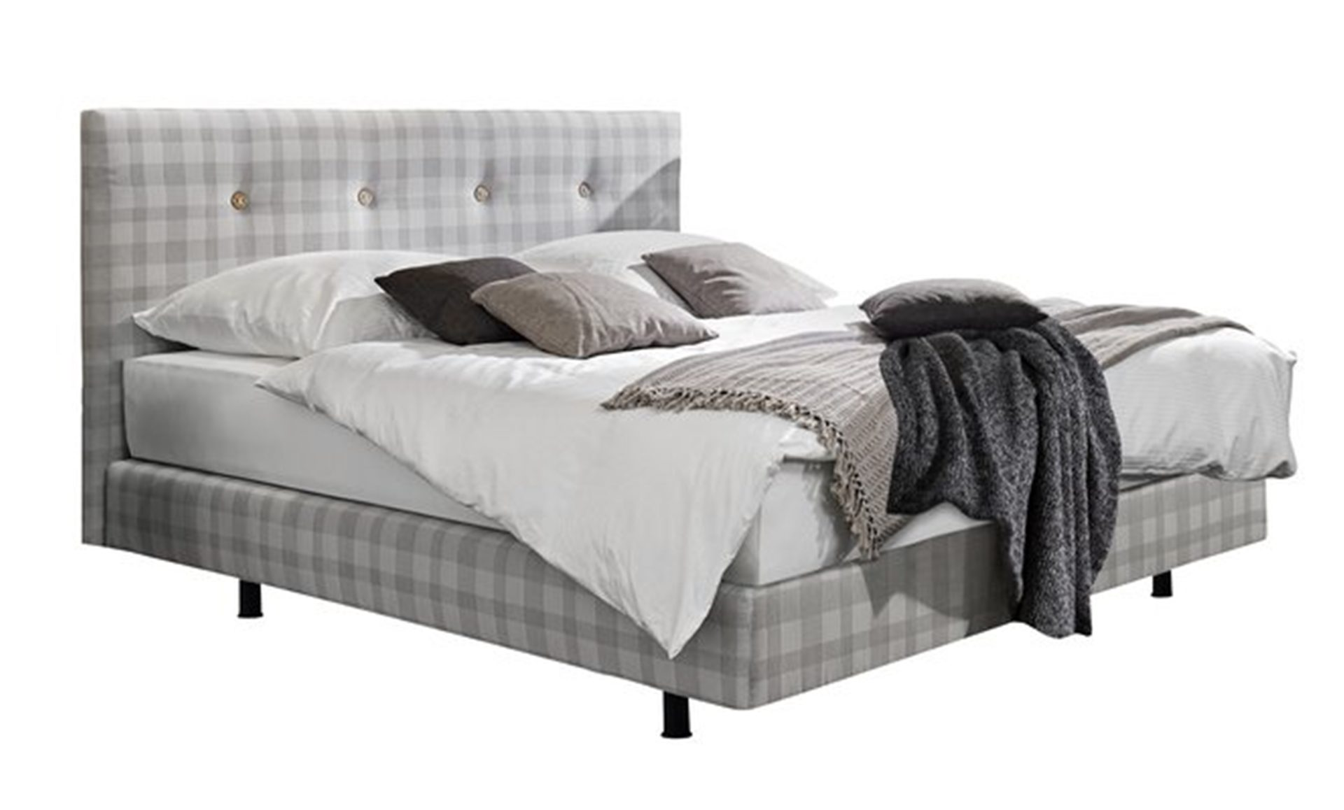Schlafzimmer Set Boxspringbett: Arte M Boxspringbett button ...